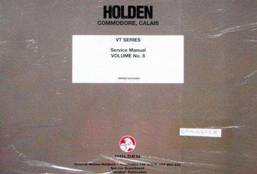 Holden Commodore/Calais VT 1997 Factory Wiring Service Manual : Volume 8 - Front Cover