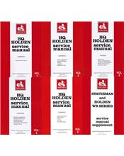 Holden HQ, WB & Statesman 1971 - 1985 Service Manual (6 Volume Set)