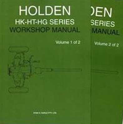 Holden HK - HT - HG Series Factory Repair Manual