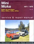 Mini 1971 - 1978 & Moke 1971 - 1982 Gregorys Owners Service & Repair Manual - Front Cover