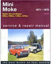 Mini 1971 - 1978 & Moke 1971 - 1982 Gregorys Owners Service & Repair Manual