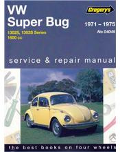 Volkswagen VW Super Bug 1600 1971 - 1975 Gregorys Owners Service & Repair Manual
