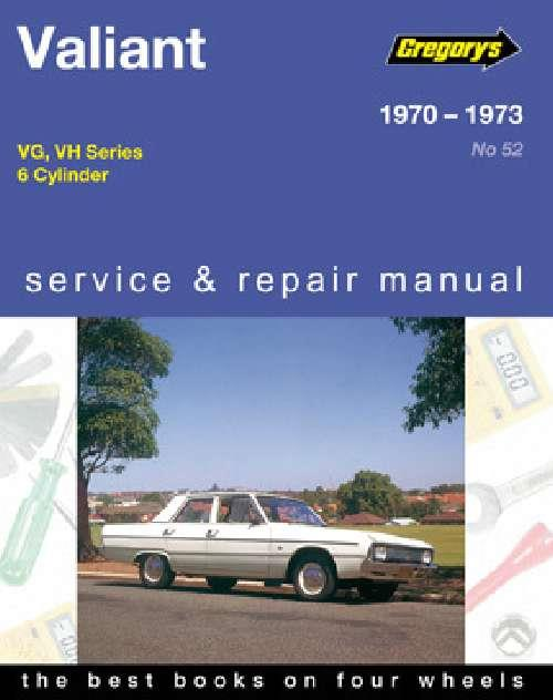 Chrysler Valiant VG - VH (6 cyl) 1970 - 1973 - Front Cover
