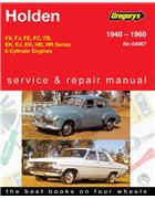 Holden FX - HR 6 Cylinder 1948 - 1968 Gregorys Owners Service & Repair Manual - Front Cover