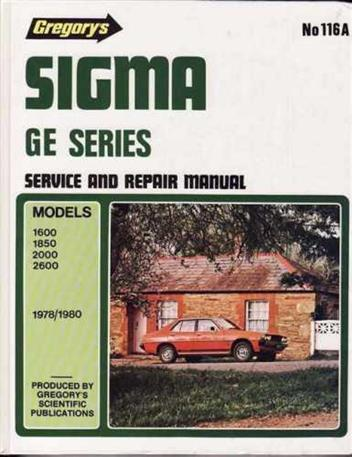 Mitsubishi Sigma GE Series 1978 - 1980 Gregorys Owners Service & Repair Manual - Front Cover