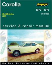 Toyota Corolla 1200 1970 - 1978 Gregorys Owners Service & Repair Manual