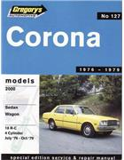 Toyota Corona 2000 1976 - 1979 Gregorys Owners Service & Repair Manual - Front Cover