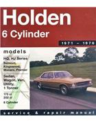 Holden HQ / HJ (6 cyl) 1971 - 1976 Gregorys Owners Service & Repair Manual