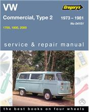 VW Commercial Type 2 Series 1973 - 1981 Gregorys Owners Service & Repair Manual