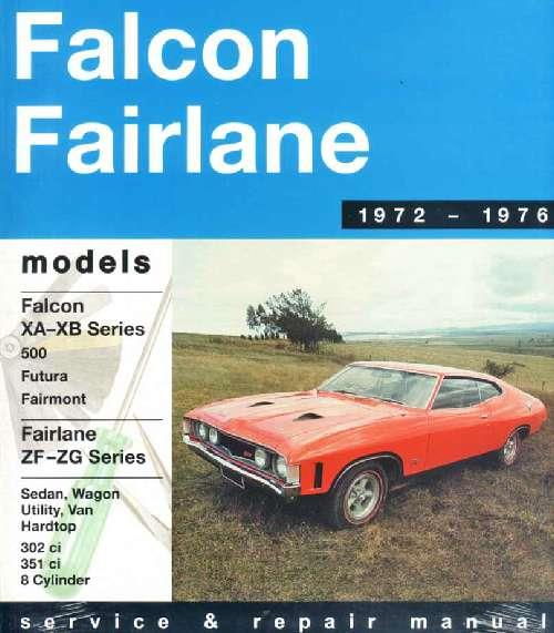 Ford Falcon XA/XB and Fairlane ZF/ZG (8 cylinder) 1972 - 1976 - Front Cover