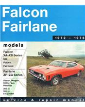 Ford Falcon XA/XB and Fairlane ZF/ZG (8 cylinder) 1972 - 1976