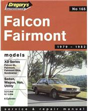 Ford Falcon XD (6 cyl) 1979 - 1982 Gregorys Owners Service & Repair Manual