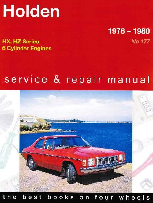 Holden HX / HZ (6 cyl) 1976 - 1980 Gregorys Owners Service & Repair Manual - Front Cover