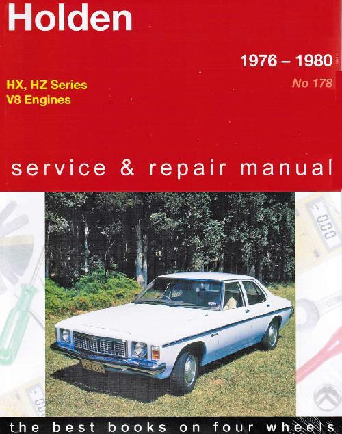 Holden HX / HZ (8 cyl) 1976 - 1980 Gregorys Owners Service & Repair Manual - Front Cover