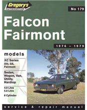 Ford Falcon XC (8 cyl) 1976 - 1979 Gregorys Owners Service & Repair Manual