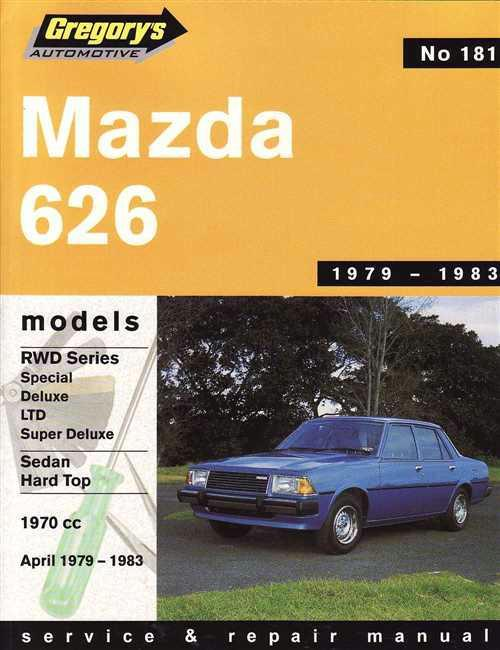 Mazda 626 RWD 1979 - 1983 Gregorys Owners Service & Repair Manual