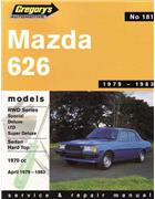 Mazda 626 RWD 1979 - 1983 Gregorys Owners Service & Repair Manual - Front Cover
