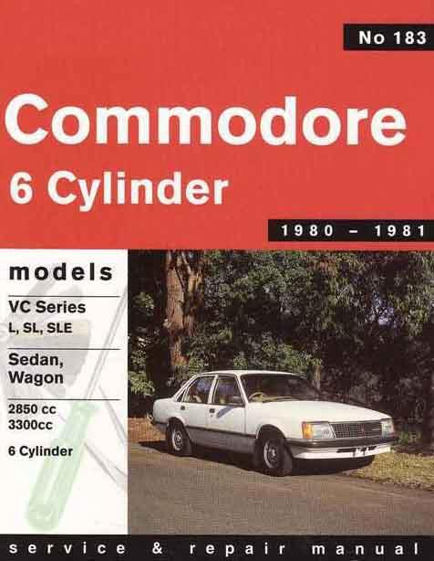 Holden Commodore VC (6 cyl) 1980 - 1981 Gregorys Owners Service & Repair Manual - Front Cover