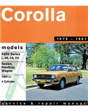 Toyota Corolla 1300 (KE55) 1978 - 1981 Gregorys Owners Service & Repair Manual