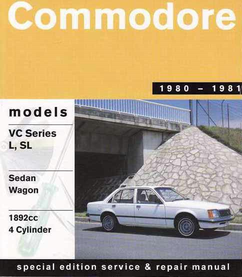 Holden Commodore VC Series 1980 - 1981 Gregorys Owners Service & Repair Manual - Front Cover