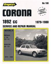 Toyota Corona (1892cc) 1979 - 1980 Gregorys Owners Service & Repair Manual