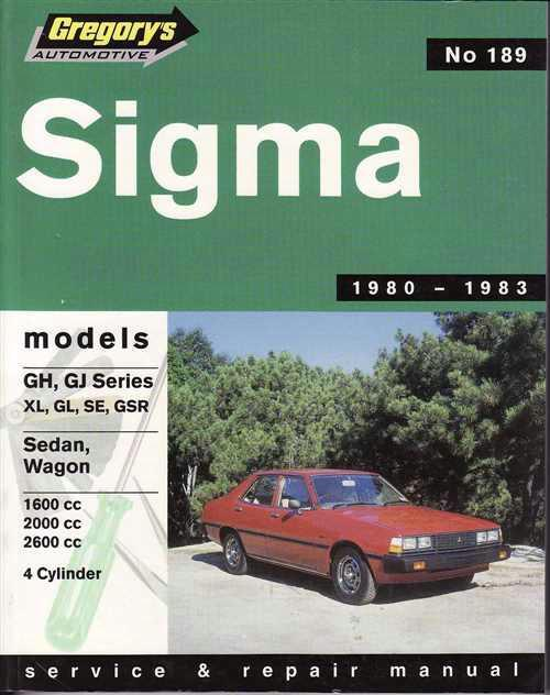 Mitsubishi Sigma GH GJ 1980 - 1983 Gregorys Owners Service & Repair Manual - Front Cover
