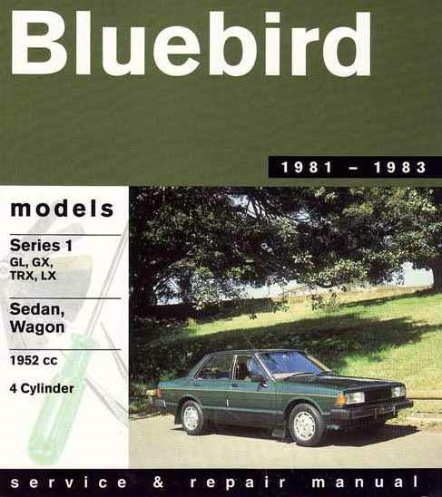 Nissan Bluebird Series 1 1981 - 1983 Gregorys Owners Service & Repair Manual - Front Cover