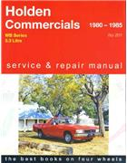 Holden Commercial WB (6 cyl) 1980 - 1985 Gregorys Owners Service & Repair Manual - Front Cover
