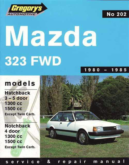 Mazda 323 FWD 1980 - 1985 Gregorys Owners Service & Repair Manual - Front Cover