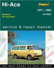 Toyota Hi-Ace RH Petrol 1977-1983 Gregorys Owners Service & Repair Manual