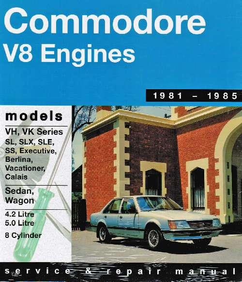 Holden Commodore VH/VK (V8) 1981-1985 Gregorys Owners Service & Repair Manual - Front Cover
