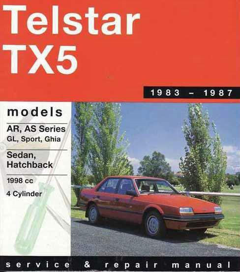 Ford Telstar / TX5 AR / AS 1983 - 1987 Gregorys Owners Service & Repair Manual - Front Cover