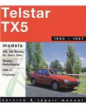 Ford Telstar / TX5 AR / AS 1983 - 1987 Gregorys Owners Service & Repair Manual