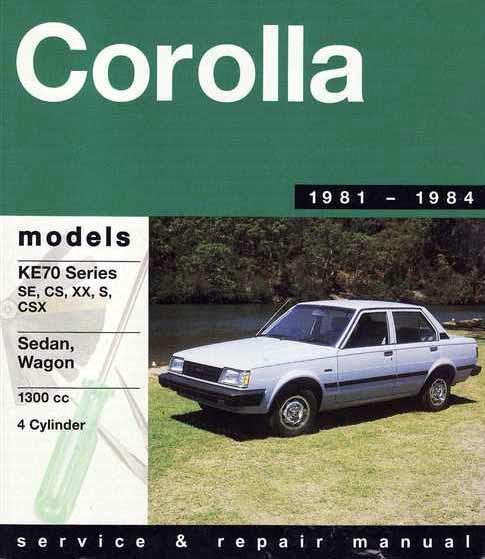Toyota Corolla 1300 1981 - 1984 Gregorys Owners Service & Repair Manual - Front Cover