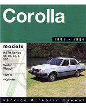 Toyota Corolla 1300 1981 - 1984 Gregorys Owners Service & Repair Manual