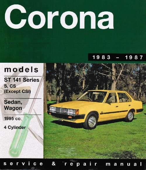 Toyota Corona ST 141 1983 - 1987 Gregorys Owners Service & Repair Manual