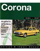 Toyota Corona ST 141 1983 - 1987 Gregorys Owners Service & Repair Manual - Front Cover