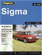 Mitsubishi Sigma GK 1984 - 1987 Gregorys Owners Service & Repair Manual