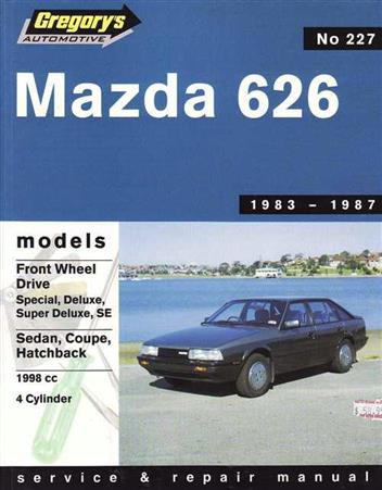 Mazda 626 GC (FWD) 1983 - 1987 Gregorys Owners Service & Repair Manual - Front Cover