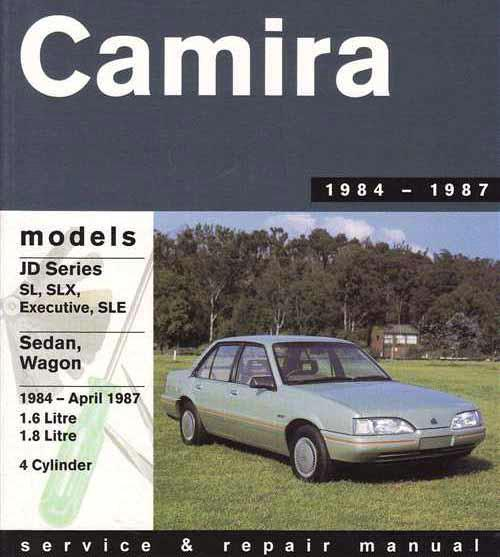 Holden Camira JD 1984 - 1987 Gregorys Owners Service & Repair Manual - Front Cover