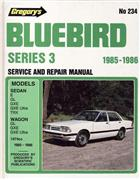 Nissan Bluebird Series 3 1985 - 1986 Gregorys Owners Service & Repair Manual - Front Cover