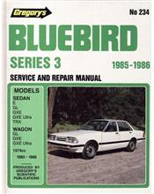 Nissan Bluebird Series 3 1985 - 1986 Gregorys Owners Service & Repair Manual