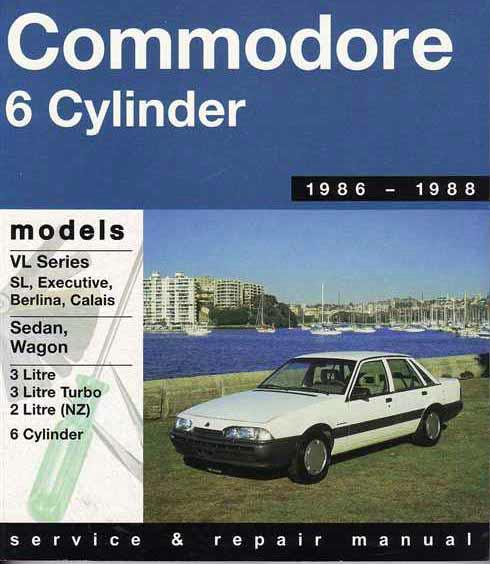 Holden Commodore VL (6 cyl) 1986 - 1988 Gregorys Owners Service & Repair Manual