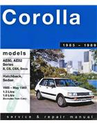 Toyota Corolla AE80 / AE82 FWD 1985 - 1989 - Front Cover