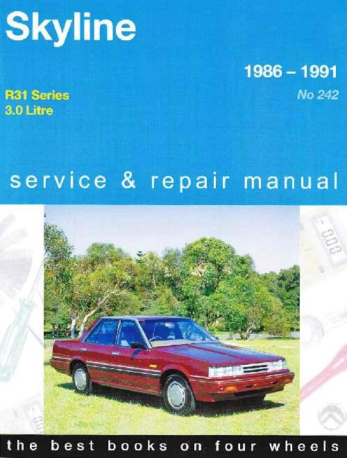Nissan Skyline R31 1986 - 1991 Gregorys Owners Service & Repair Manual - Front Cover
