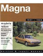 Mitsubishi Magna TN 1987 - 1989 Gregorys Owners Service & Repair Manual - Front Cover