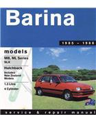 Holden Barina MB - ML 1985 - 1988 Gregorys Owners Service & Repair Manual - Front Cover