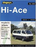 Toyota Hi-Ace YH 1983 - 1989 Gregorys Owners Service & Repair Manual
