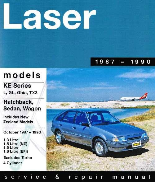 Ford Laser KE 1.3 1.6 & EFI 1987 - 1990 Gregorys Owners Service & Repair Manual