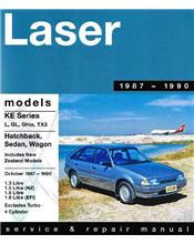 Ford Laser KE 1.3 1.6 & EFI 1987 - 1990 Gregorys Owners Service & Repair Manual